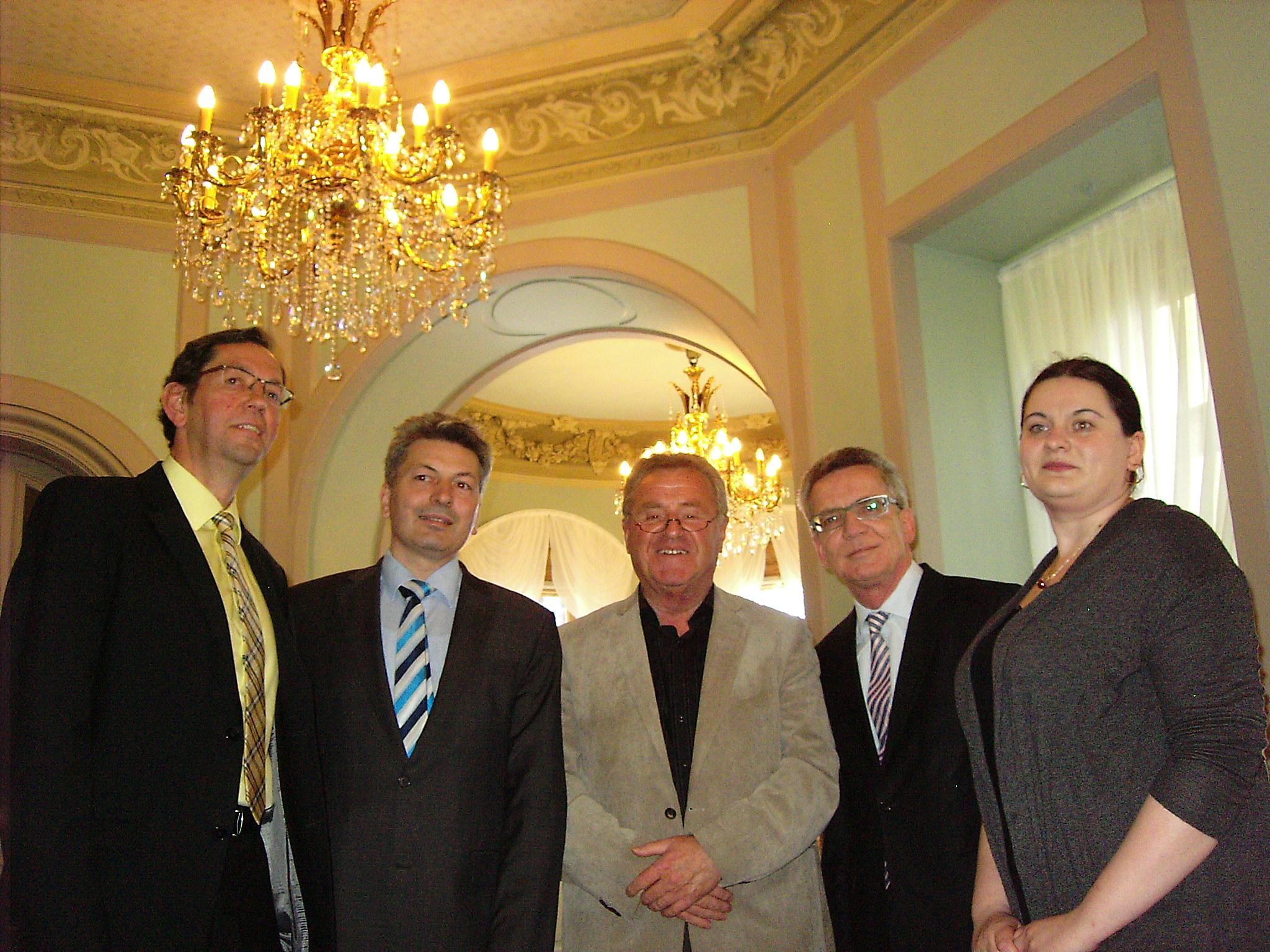 Besuch im Schloss Schönfeld des Bundesinnenministers und Bundestagsabgeordneten Dr. Thomas de Maizière
