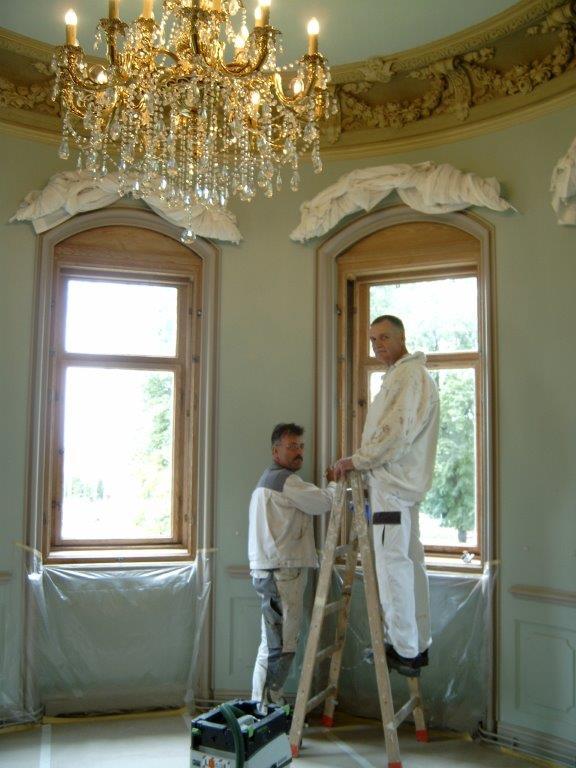 Weitere Sanierungsarbeiten im  Porzellanzimmer