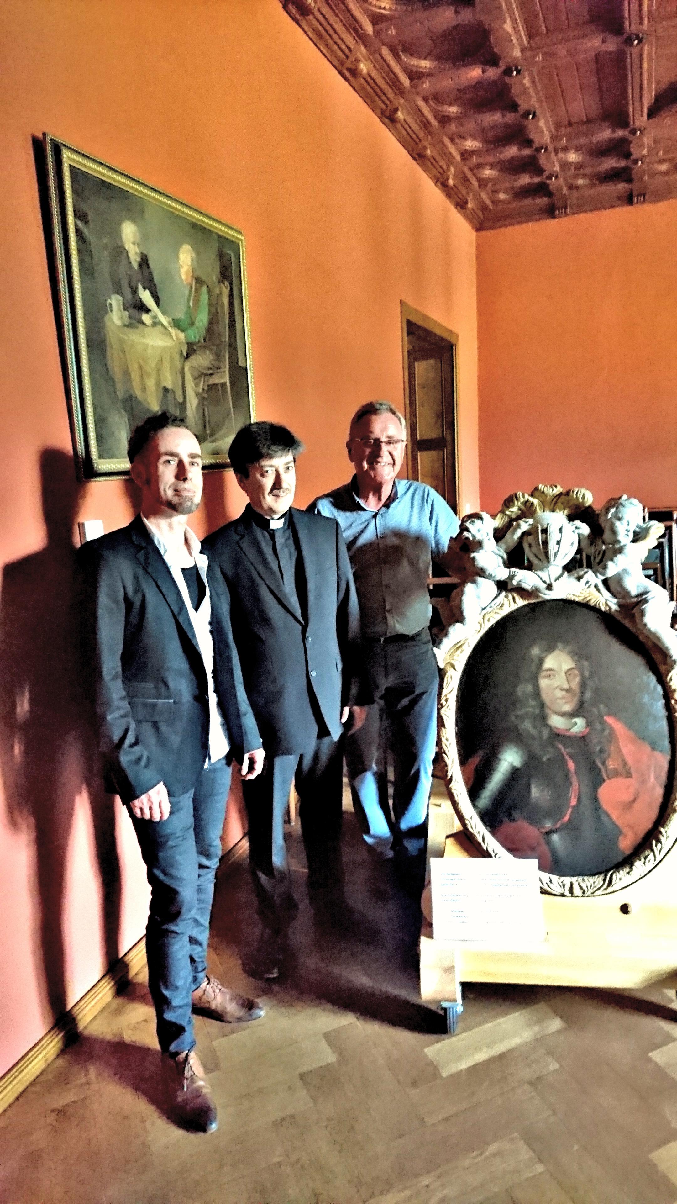 Einweihung Bildplatte des Christoph Abraham von der Sahla zum 10. Tag der Parks und Gärten